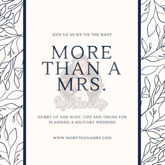 Military wedding planning tips